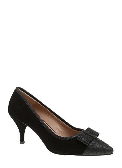 Divarese Kısa Topuklu Ayakkabı Siyah